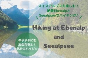 【スイスアルプス】Seealpsee湖とEbenalpでハイキング
