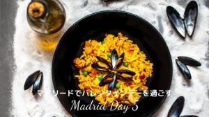 【スペイン・マドリード】人気レストランでランチ×ルーフトップバーでバレンタインデー