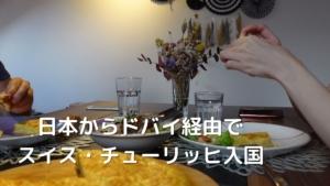 【スイス入国】日本からドバイ経由でチューリッヒへ!エミレーツ航空で行く